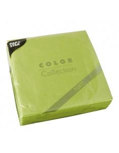 Servilletas papel económicas color verde 38 x 38 cm microgofrado Punto