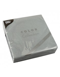 Servilletas papel económicas color gris 38 x 38 cm microgofrado Punto