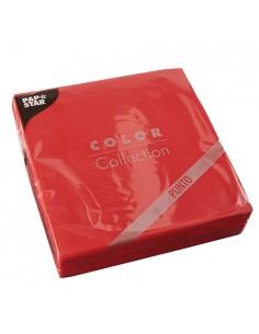 Servilletas de papel económicas color rojo 38 x 38 cm microgofrado punto