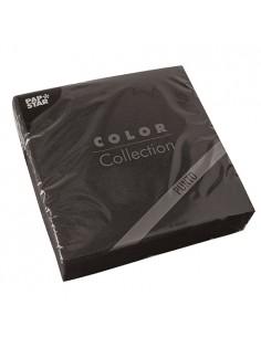 Servilletas papel económicas color negro 38 x 38 cm microgofrado Punto