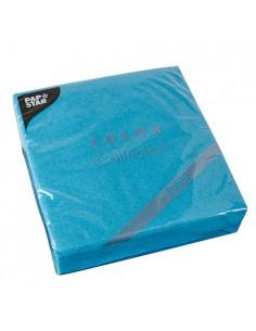 Servilletas papel económicas color azul turquesa 38 x 38 cm microgofrado Punto