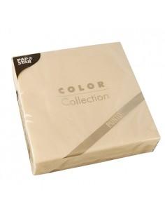 Servilletas papel económicas color champan 38 x 38 cm microgofrado punto