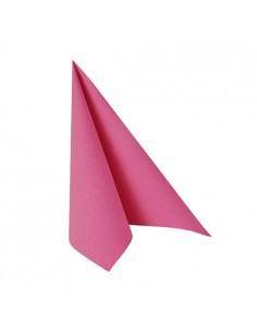 Servilletas papel aspecto tela Royal Collection color rosa fucsia 25 x 25 cm