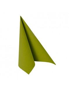 20 Servilletas 25 x 25 cm Color Verde Oliva Royal Collection