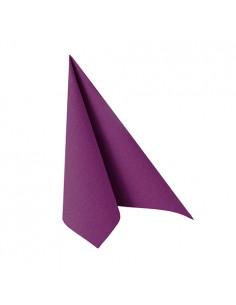 Servilletas papel aspecto tela Royal Collection color morado 25 x 25 cm