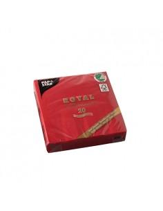 Servilletas papel aspecto tela Royal Collection color rojo 25 x 25cm