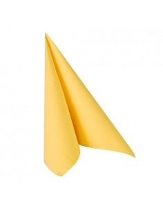 Servilletas papel aspecto tela Royal Collection color amarillo 33 x 33 cm