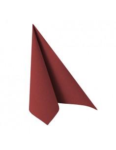 Servilletas papel burdeos Royal Collection 33 x 33 cm