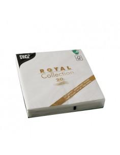 Servilletas papel aspecto tela Royal Collection color blanco 33 x 33 cm