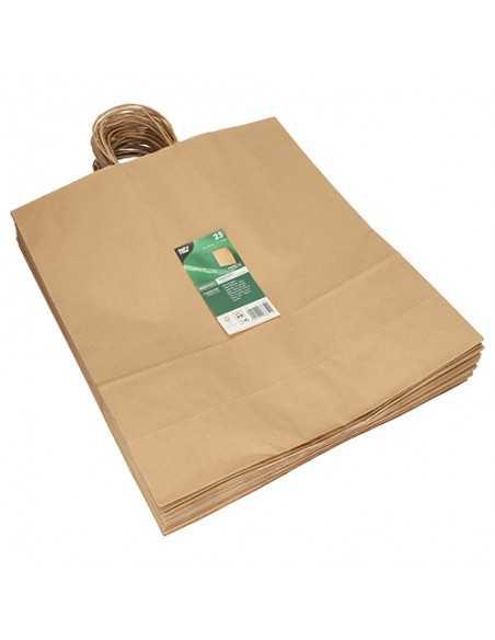 Bolsas papel kraft marrón con asas retorcida 41 x 35 x 14cm