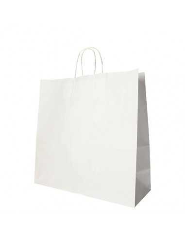 Bolsas de papel blanco con asas retorcidas 35 x 35 x 14cm