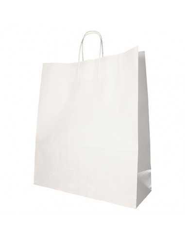 Bolsas papel con asa retorcida color blanco 41 x 35 x 14 cm