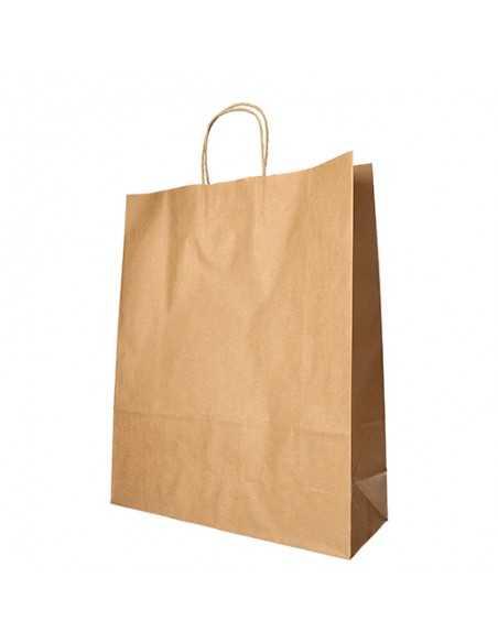 Bolsas papel Kraft marrón con asas 40 x 32 x 12cm
