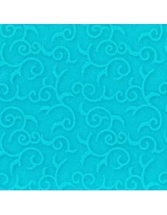 50 Servilletas 40 x 40 cm Azul Turquesa Royal Collection Casa