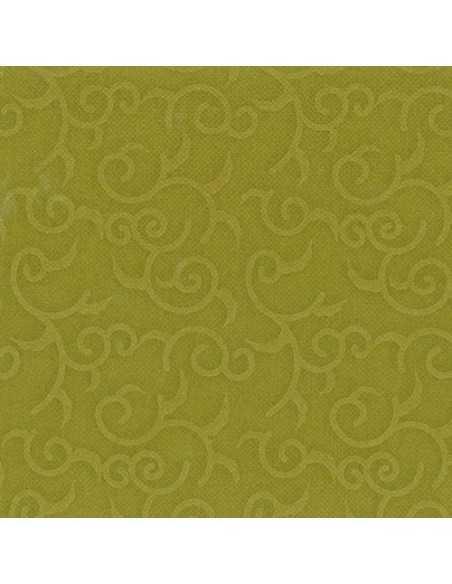 Servilletas papel decoradas color verde oliva 40 x 40 cm Royal Collection Casali