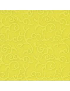 Servilletas papel decoradas verde limón 40 x 40 cm Royal Collection Casali