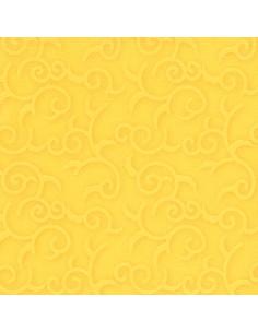 Servilletas papel decoradas color amarillo 40 x 40 cm Royal Collection Casali
