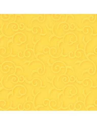 Servilletas papel decoradas color amarillo 40 x 40 cm Royal Collection Casali