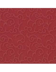 Servilletas papel decoradas color burdeos 40 x 40 cm Royal Collection Casali