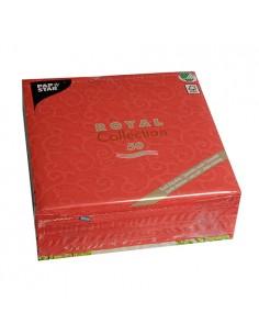Servilletas papel decoradas rojo 40 x 40 cm Royal Collection Casali