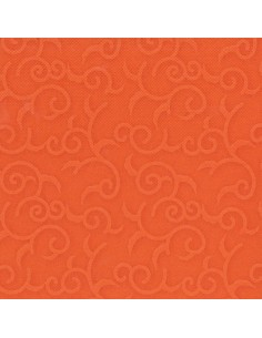 Servilletas papel decoradas color naranja 40 x 40 cm Royal Collection Casali