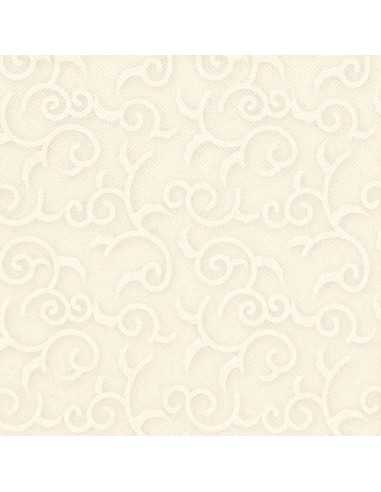 Servilletas papel decoradas color crema 40 x 40 cm Royal Collection Casali