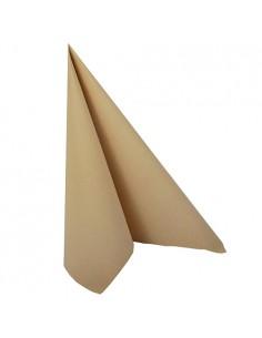 Servilletas papel aspecto tela marrón arena Royal Collection 40 x 40 cm