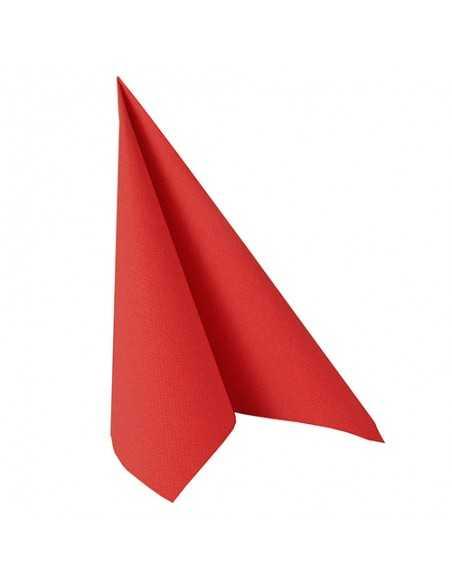 Servilletas papel aspecto tela Royal Collection color rojo 40 x 40 cm