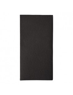 50 Servilletas 48 x 48 cm Color Negro Royal Collection Pliegue 1/8