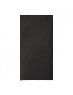 50 Servilletas 48 x 48 cm Color Negro Royal Collection Pliegue 1/8