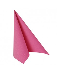 Servilletas papel aspecto tela Royal Collection color rosa fucsia 40 x 40 cm