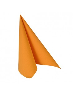 Servilletas papel aspecto tela naranja Royal Collection 33 x 33 cm