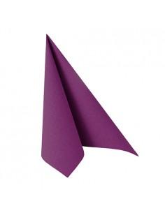 Servilletas papel aspecto tela color morado Royal Collection 33 x 33 cm