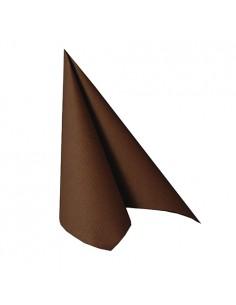 Servilletas papel aspecto tela marrón Royal Collection 33 x 33 cm