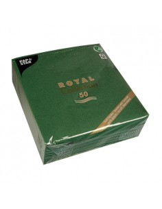 50 Servilletas Papel 40 x 40 cm Color Verde Oscuro Royal Collection