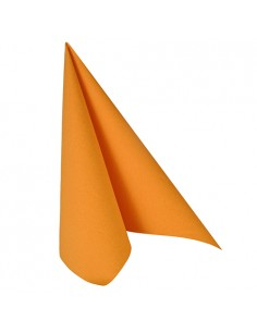 Servilletas papel aspecto tela naranja Royal Collection 40 x 40 cm