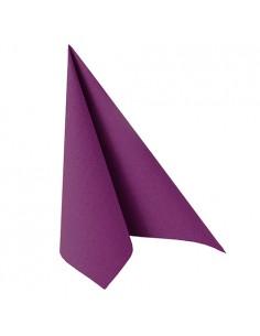 Servilletas papel aspecto tela Royal Collection color morado 40 x 40 cm
