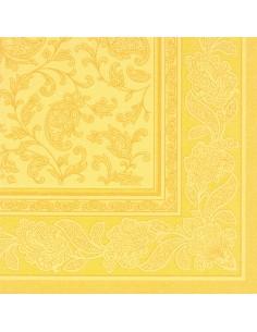 50 Servilletas 40 x 40 clor Amarillo Ornaments Royal Collection