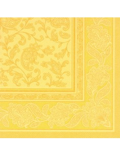 Servilletas papel decoradas Royal Collection color amarillo 40 x 40 cm Ornaments