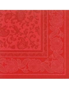 50 Servilletas 40 x 40 cm Color Rojo Ornaments Royal Collection