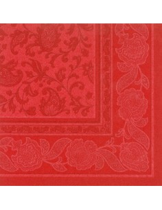 Servilletas papel decoradas Royal Collection color rojo 40 x 40 cm Ornaments