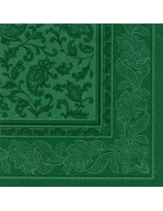 50 Servilletas 40 x 40 cm Verde Oscuro Ornaments Royal Collection