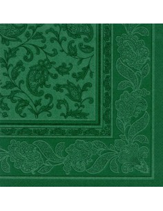 Servilletas papel decoradas Royal Collection verde oscuro 40 x 40 cm Ornaments
