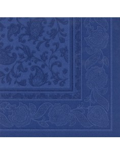 50 Servilletas 40 x 40 cm Color Azul Oscuro Ornaments Royal Collection