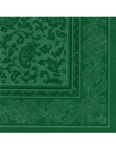 20 Servilletas 40 x 40 cm Color Verde Oscuro Ornaments Royal Collection