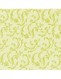 Servilletas de papel decoradas Royal Colection verde lima 40 x 40 cm Damascato