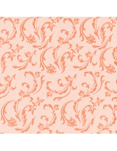 50 Servilletas 40 x 40 cm Color Naranja Damascato Royal Collection