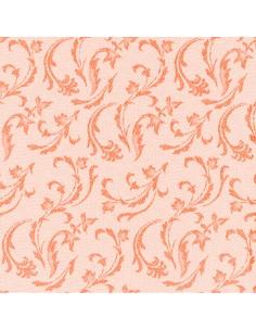 Servilletas de papel decoradas Royal Colection naranja 40 x 40 cm Damascato