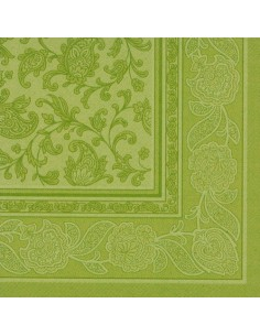 Servilletas papel decoradas Royal Collection verde oliva 40 x 40 cm Ornaments