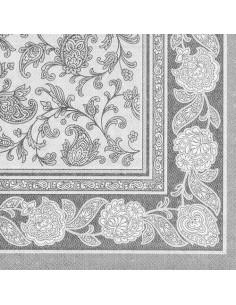 Servilletas papel decoradas Royal Collection color gris 40 x 40 cm Ornaments